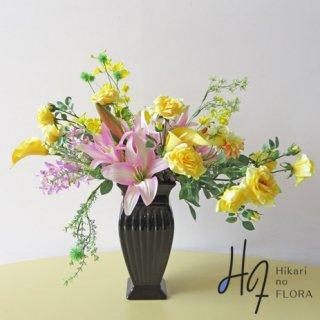 高級造花インテリア【エイブリー】アーティフィシャルフラワー(高級造花)を使用したおしゃれなアレンジメントです。