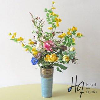高級造花インテリア【ヤマブキ】アーティフィシャルフラワー(高級造花)を使用したアレンジメントです。