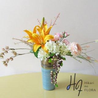 高級造花インテリア【ソフィア】アーティフィシャルフラワー(高級造花)を使用したアレンジメントです。