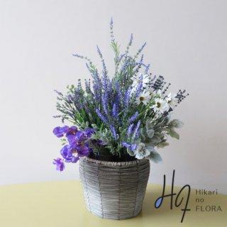 高級造花インテリア【ラベンダーハーブ】ラベンダーのブッシュです。まるで香りが漂ってくるかのようなアレンジメントです。