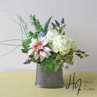 高級造花インテリア【ルガーオ】大人のアレンジメント。花器ともどもシックさがいいです。
