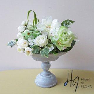 高級造花アレンジメント【フレイア】清楚な高級造花アレンジメントです。