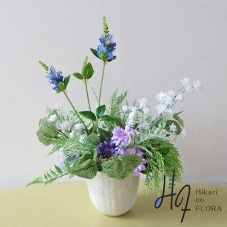 光触媒高級造花アレンジメント【ハイル】リーフブッシュとお花たちのナチュラルなアレンジメントです。実に、ナチュラル!!