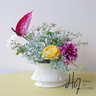高級造花アレンジメント【フェリーク】ちょっとおしゃれな空間づくりに置いてみませんか。
