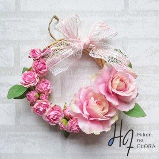 光触媒加工・壁掛けリース【wreath258】すてきな薔薇のリースで、お部屋を飾りませんか。wreath(リース)は永遠と愛の象徴です。