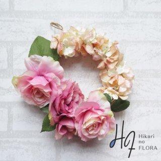 光触媒加工・壁掛けリース【wreath261】薔薇が美しいリースです。wreath(リース)は永遠と愛の象徴です。