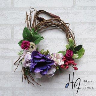 光触媒加工・壁掛けリース【wreath269】結び枝のリースです。wreath(リース)は永遠と健康と愛情の象徴です。