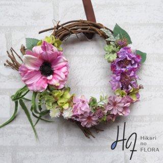光触媒加工・壁掛けリース【wreath276】色彩選びが個性的なリースです。wreath(リース)は永遠と健康と愛情の象徴です。