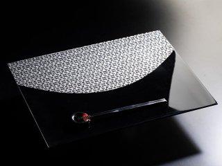 金襴ランチョンマット TACHIKI BLACK-Silver(両面仕様)