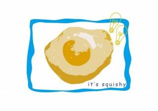No.202 medama egg ※半袖/長袖 在庫(ロンT/カットソー/イラスト/目玉焼き/卵/可愛い/ポップ)