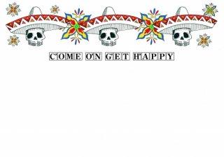 No.587 Come On Get Happy※半袖/長袖 在庫あり(ロンT/カットソー/イラスト/骸骨/スカル/ポップ/可愛い)