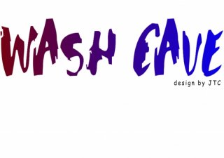 No.590 WASH CAVE※半袖/長袖 在庫あり(ロンT/カットソー/英語/英字/レッド/赤/ブルー/青/グラデーション)