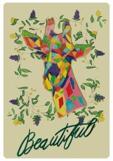 No.641 Giraffe ※半袖/長袖 在庫あり(ロンT/カットソー/キリン/動物/カラフル/可愛い/スタイリッシュ)