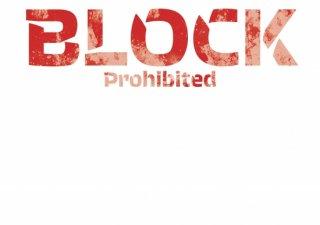 No.656 BLOCK ※半袖/長袖 在庫あり(ロンT/カットソー/英語/英字/レッド/赤/かすれ/シンプル)
