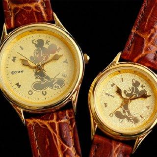 文字盤24金仕上げ ミッキーマウス腕時計