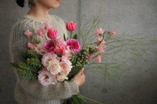 sakura color bouquet