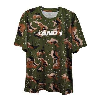 AND1(アンドワン) S738111119 メンズ バスケットウェア 半袖Tシャツ CAMO GRAPHIC TEE