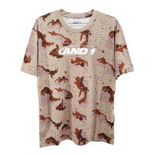 AND1(アンドワン) S738111107 メンズ バスケットウェア 半袖Tシャツ CAMO GRAPHIC TEE