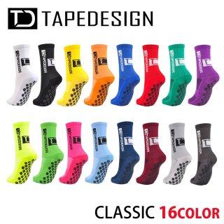 TAPEDESIGN(テープデザイン) TDCLASSIC クラシック グリップソックス サッカー フットサル バスケットボール 滑り止め付き