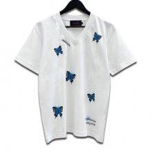 Butterfly VネックTシャツ/   Matsuri
