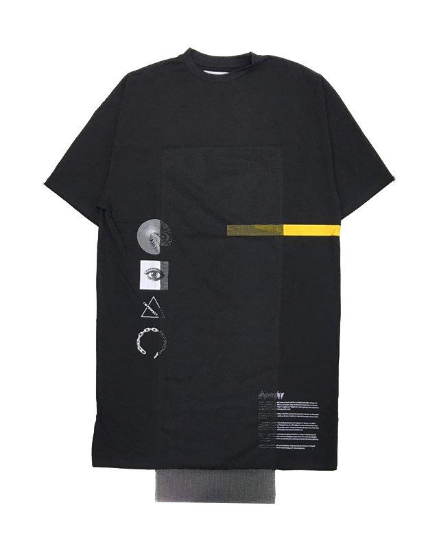 オーバーサイズ&ストリート『Re:one Online Store』「PARADOX」LONG T-SHIRTS(BLACK)