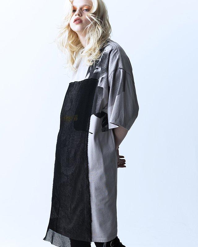 オーバーサイズ&ストリート『Re:one Online Store』「PARADOX」LONG T-SHIRTS(GRAY)
