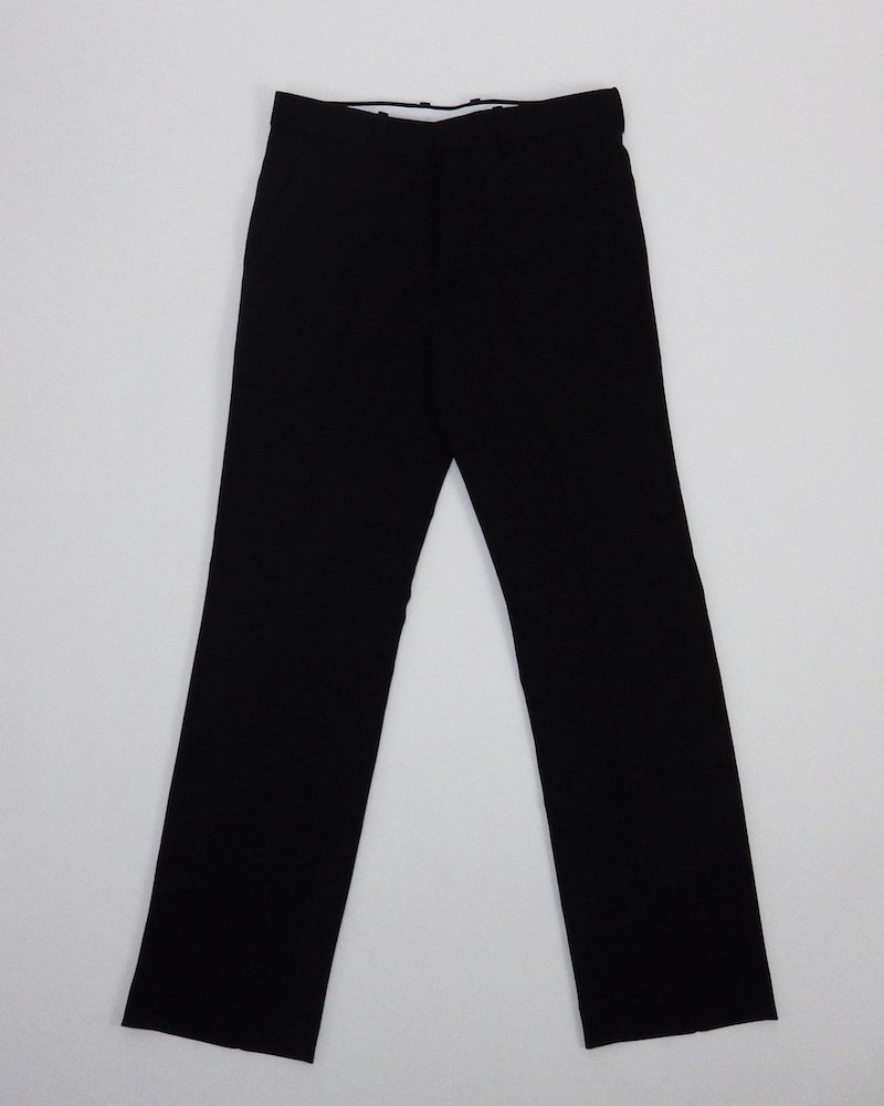 オーバーサイズ&ストリート『Re:one Online Store』Black slim slacks