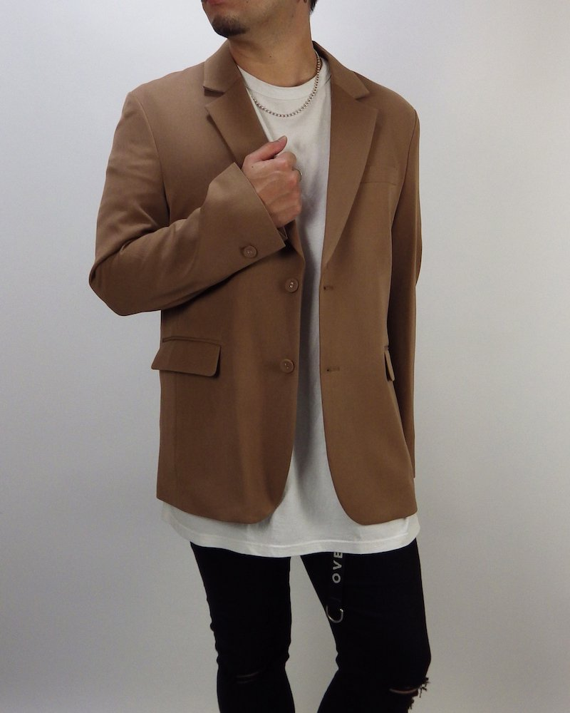 オーバーサイズ&ストリート『Re:one Online Store』Over tailored jacket -BROWN-