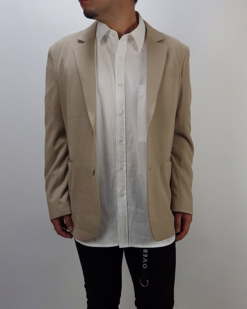 オーバーサイズ&ストリート『Re:one Online Store』Over tailored jacket -BEIGE-