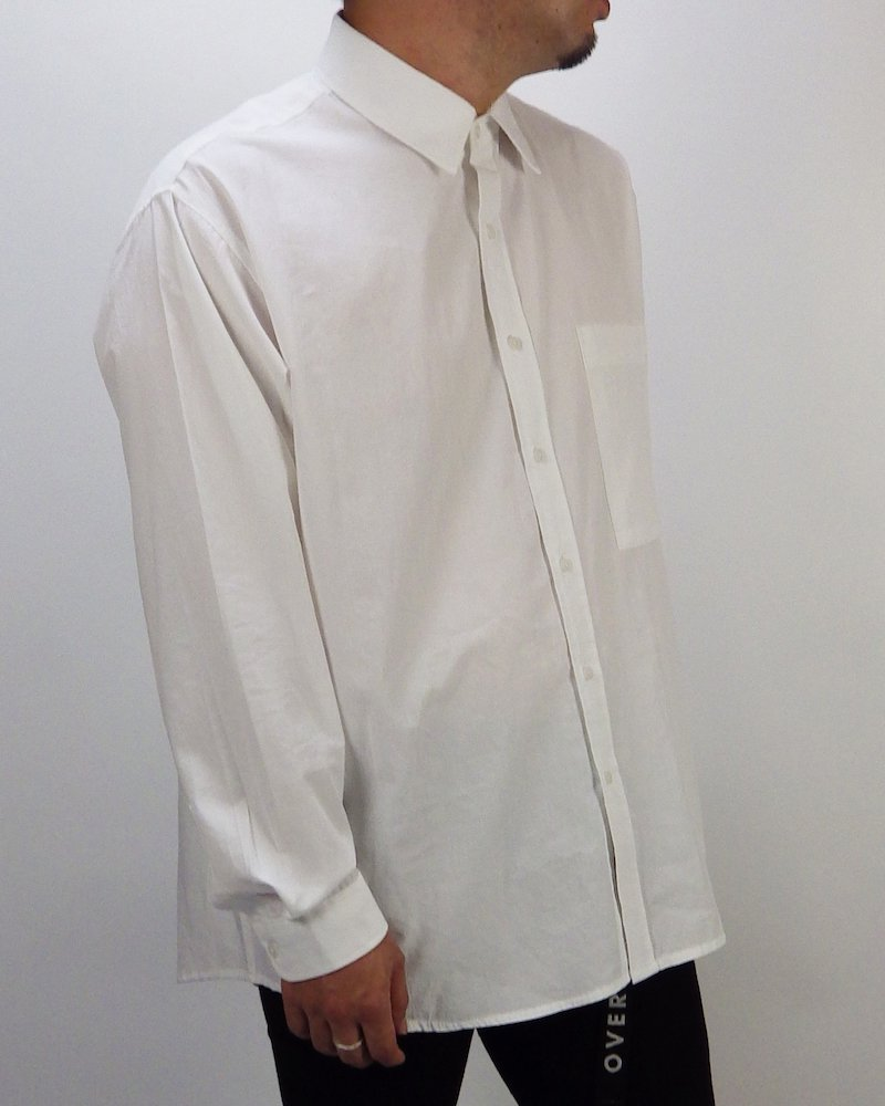 オーバーサイズ&ストリート『Re:one Online Store』Basic shirt -WHITE-