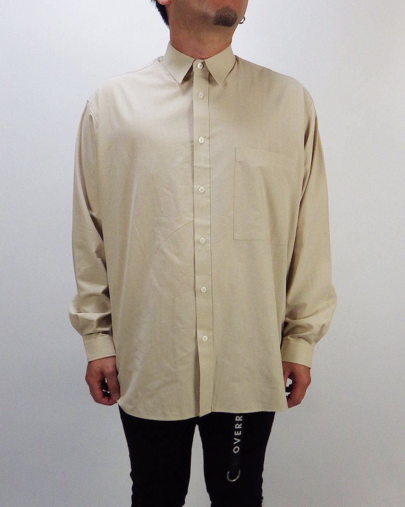 オーバーサイズ&ストリート『Re:one Online Store』Basic shirt -BEIGE-