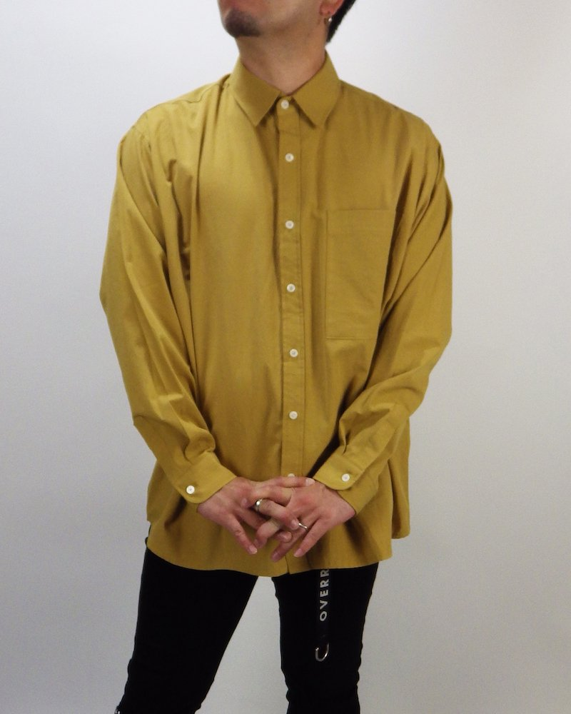 オーバーサイズ&ストリート『Re:one Online Store』Basic shirt -MUSTARD-