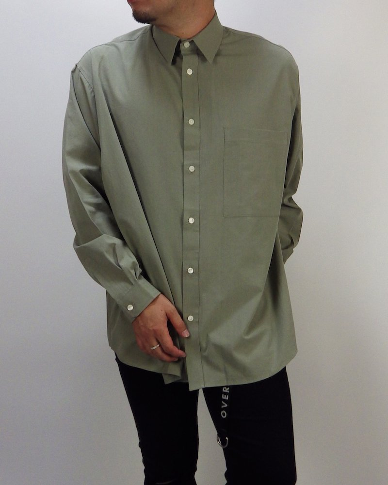 オーバーサイズ&ストリート『Re:one Online Store』Basic shirt -KHAKI-