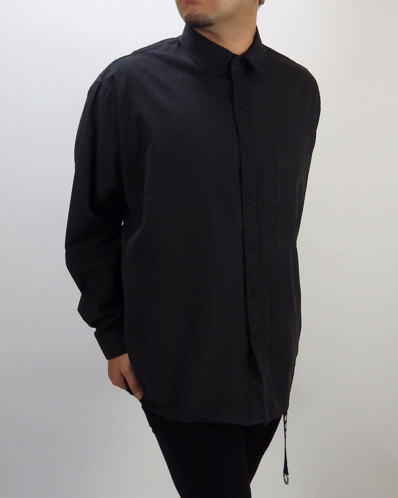 オーバーサイズ&ストリート『Re:one Online Store』Basic shirt -BLACK-