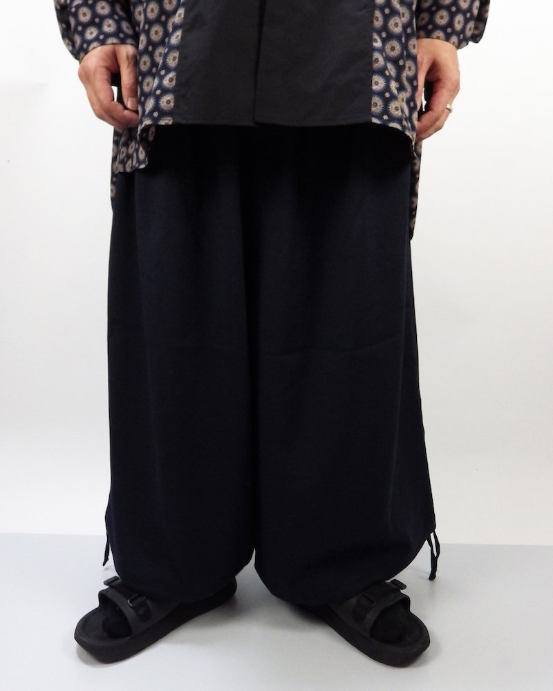 オーバーサイズ&ストリート『Re:one Online Store』Wide pants -NAVY-