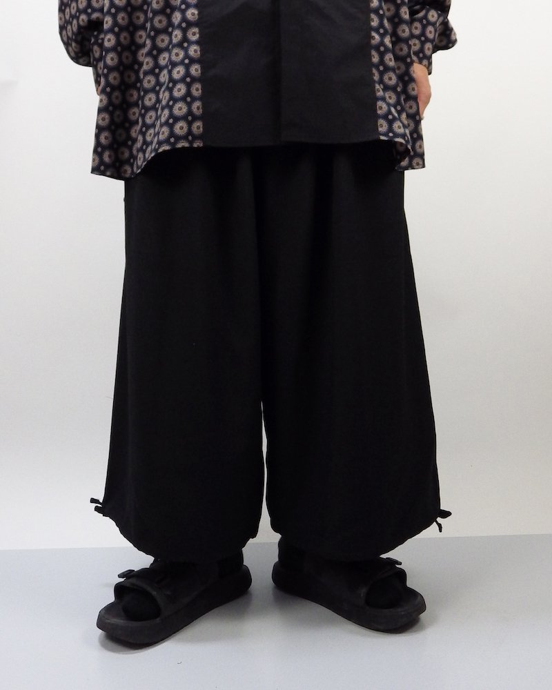 オーバーサイズ&ストリート『Re:one Online Store』Wide pants -BLACK-