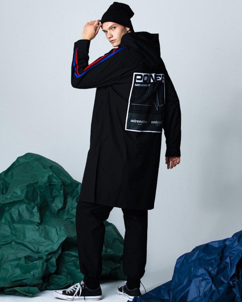 オーバーサイズ&ストリート『Re:one Online Store』「PARADOX」HOODED SHIRTS -BLACK-