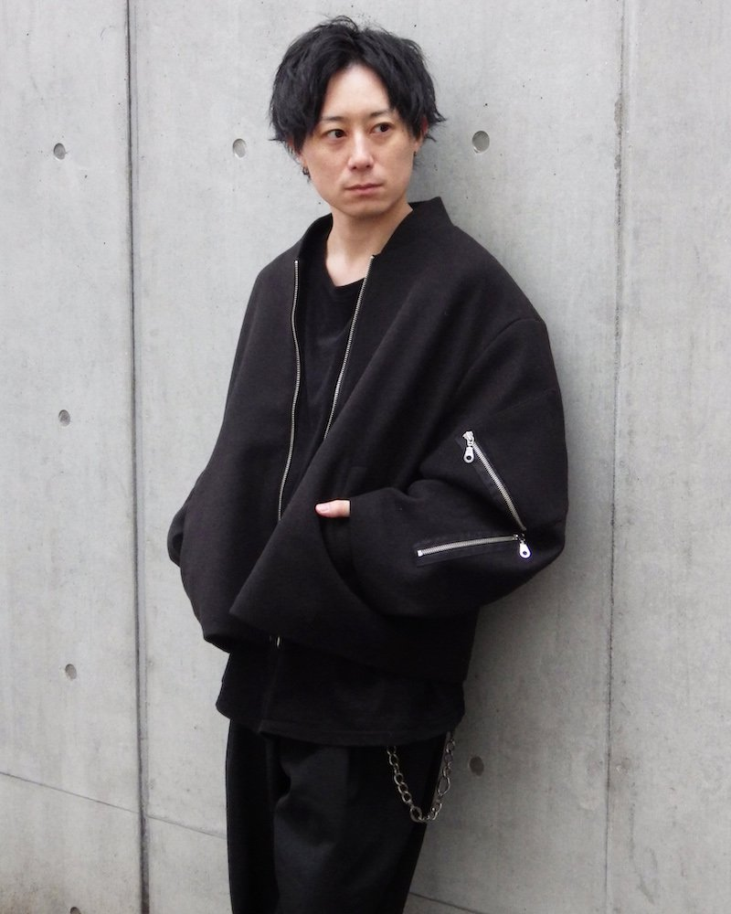 オーバーサイズ&ストリート『Re:one Online Store』「D.N.A」 Wool zip MA-1