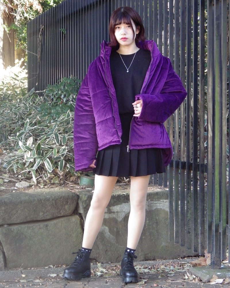 オーバーサイズ&ストリート『Re:one Online Store』「NINE NUTS」SUEDE DOWN JACKET -PURPLE-