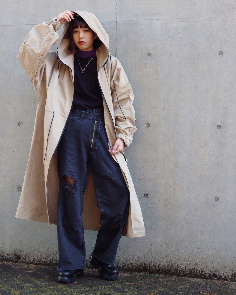 オーバーサイズ&ストリート『Re:one Online Store』「EDDEN」Long loose mod coat -BEIGE-