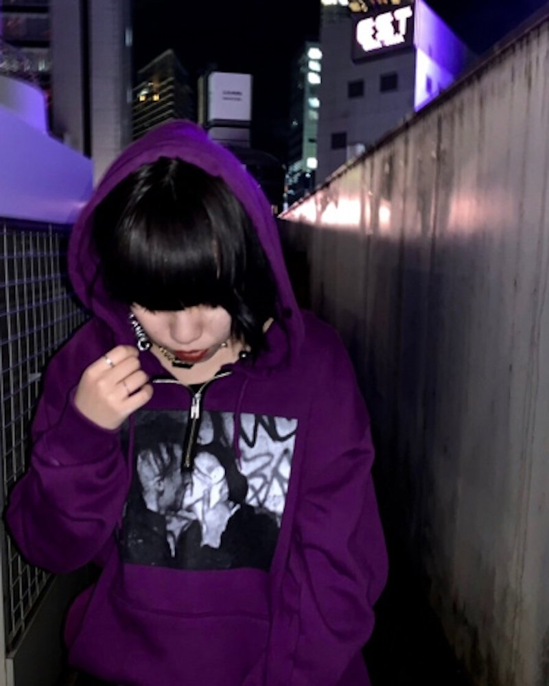オーバーサイズ&ストリート『Re:one Online Store』「PARADOX」HALF ZIP PARKA -PURPLE-