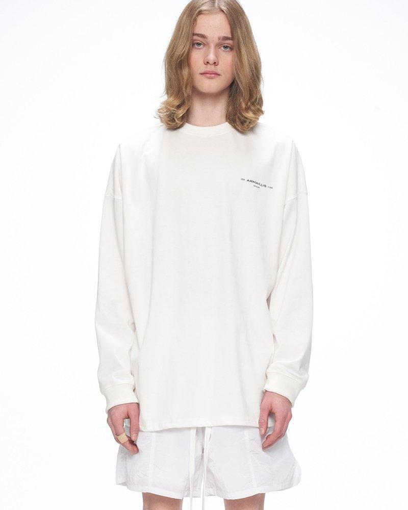 オーバーサイズ&ストリート『Re:one Online Store』「OVERR」BASIC LOGO WHITE L/S T-SHIRTS