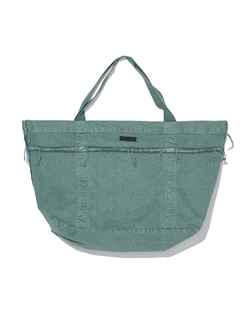 オーバーサイズ&ストリート『Re:one Online Store』「OVERR」 PIGMENT GREEN TOTEBAG