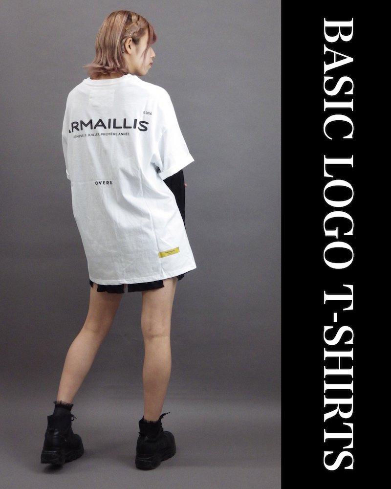 「OVERR」BASIC LOGO WHITE T-SHIRTS コーデイメージ(2)
