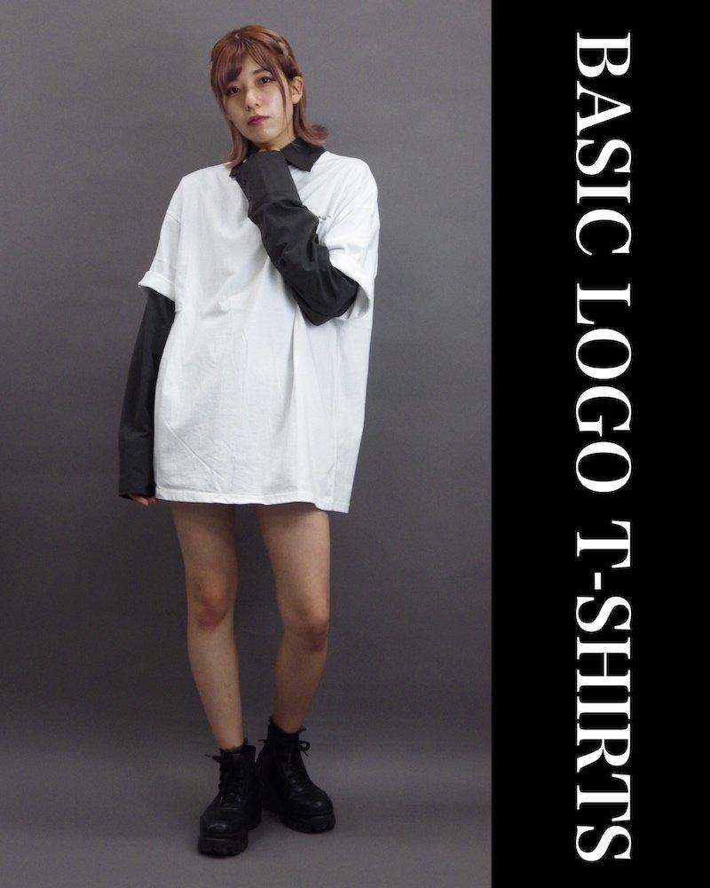 「OVERR」BASIC LOGO WHITE T-SHIRTS コーデイメージ(4)