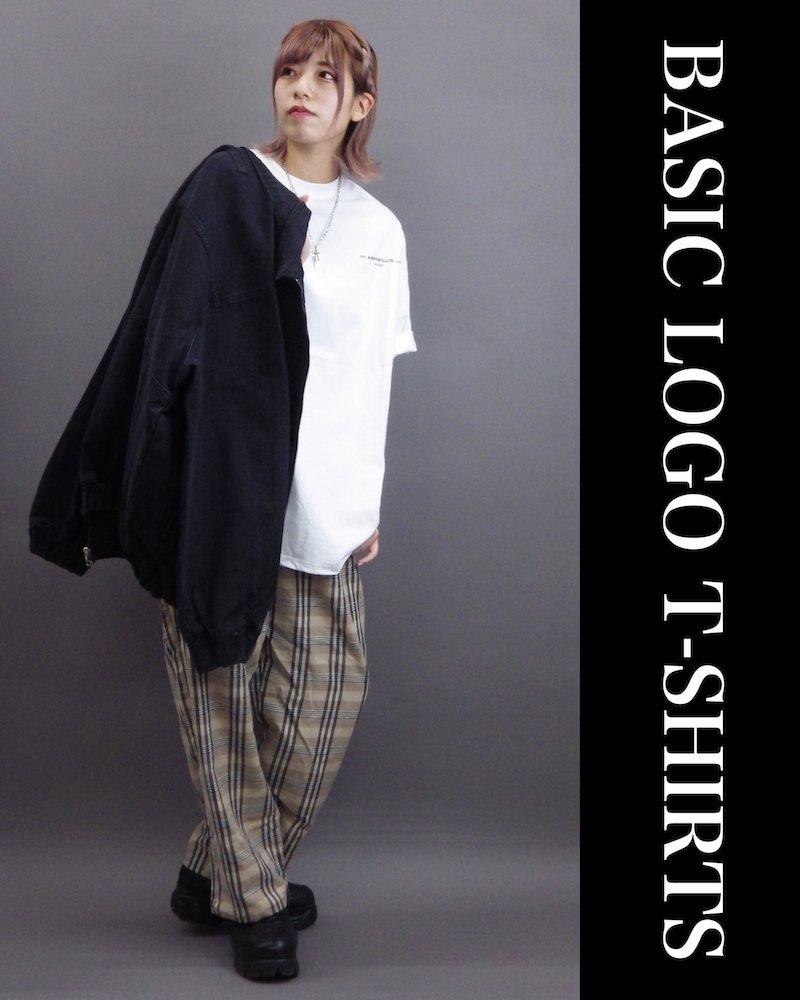 「OVERR」BASIC LOGO WHITE T-SHIRTS コーデイメージ(5)