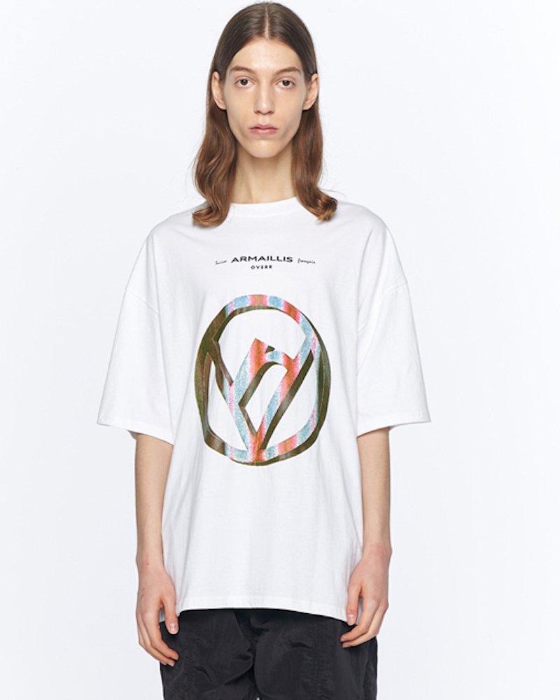 オーバーサイズ&ストリート『Re:one Online Store』「OVERR」PRISM WHITE T-SHIRTS