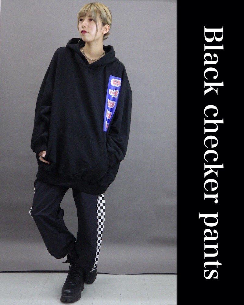 「NINE NUTS」Black checker pants コーデイメージ(5)
