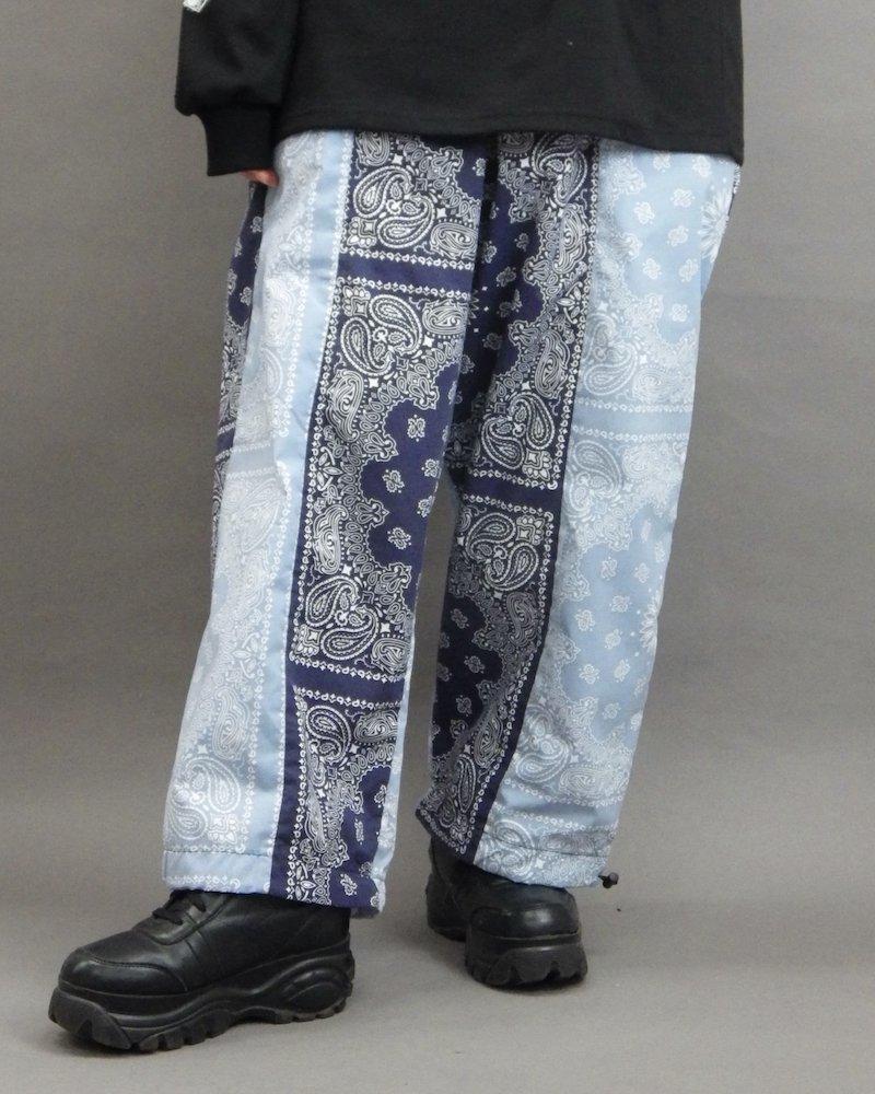 オーバーサイズ&ストリート『Re:one Online Store』「NINE NUTS」Bandana switching navy pants