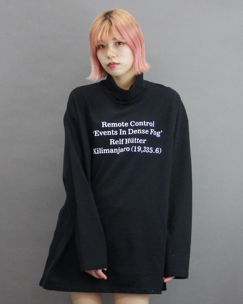 オーバーサイズ&ストリート『Re:one Online Store』「1:24」Message turtle black cut and sew